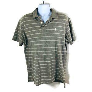Polo Ralph Lauren Polo Shirt L Gray Striped White